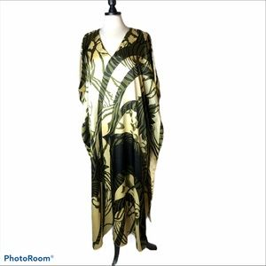 AS-HRO Caftan Palm Print One Size